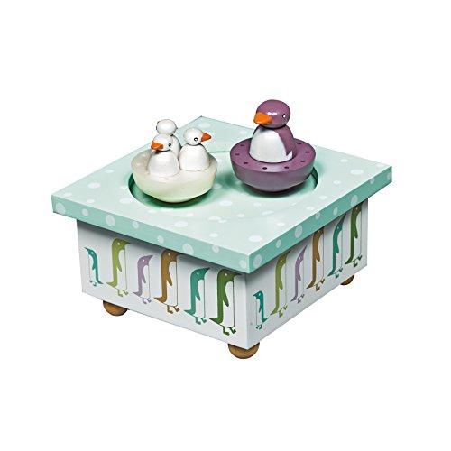 achat trousselier boite musique bois pingouin. Black Bedroom Furniture Sets. Home Design Ideas