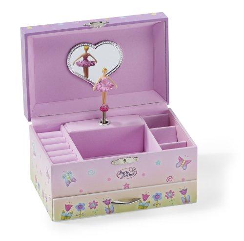 achat boite bijoux musicale motif f e coffret bijoux rose pour enfant. Black Bedroom Furniture Sets. Home Design Ideas