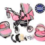 Baby-Sportive-Landau-pour-bb-avec-roues-pivotables-Sige-Auto-Poussette-Systme-3en1-incluant-sac--langer-et-protection-pluie-et-moustique-0