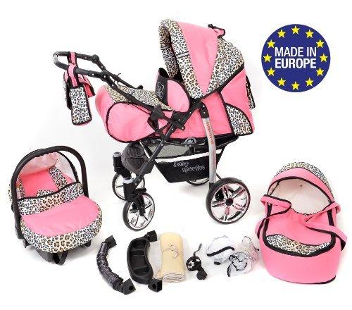 achat baby sportive landau pour b b avec roues pivotables si ge. Black Bedroom Furniture Sets. Home Design Ideas