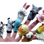 Marionettes-a-doigts-en-forme-danimaux-Lot-de-10-types-diffrents-0