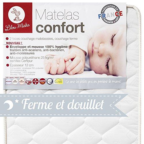 achat lilou miaka matelas b b confort pour lit 60 x 120. Black Bedroom Furniture Sets. Home Design Ideas