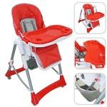 Todeco-Chaise-Haute-pour-Bb-Chaise-Pliante-pour-Bb-Taille-dploye-105-x-75-x-60-cm-Matriau-PP-Rouge-0