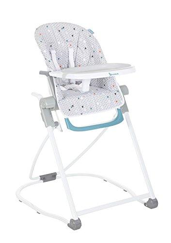 achat badabulle chaise haute grise compacte et multipositions pour b b. Black Bedroom Furniture Sets. Home Design Ideas