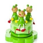 Bote--musique-en-bois-grenouille-verte-cadeau-de-baptme-pour-bb-garon-ou-fille-0