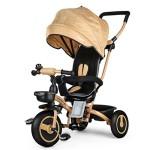 Fascol-Tricycle-Evolutif-Velo-Bb-Pliable-Poussette-avec-Canne-et-Roues-Silencieuses-pour-Enfant-6-Mois--5-Ans-Or-0