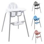 Monsieur-Bb--Chaise-haute-enfant-rglable-hauteur-et-tablette-4-coloris-Norme-NF-EN14988-0