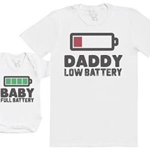 Baby-Full-Battery-Ensemble-Pre-Bb-Cadeau-Hommes-T-Shirt-Body-bb-Blanc-L-18-24-Mois-0
