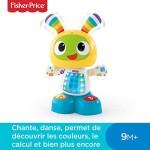 Fisher-Price-Bebo-le-Robot-Interactif-Jouet-dveil-avec-3-Modes-de-Jeu-Musique-et-Danse-Apprentissage-Enregistrement-pour-Bb-de-9-Mois-et-Plus-CGV44-0