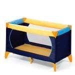 Hauck-Dream-N-Play-Lit-Parapluie-3-Pices-120-x-60-cm-Naissance--15-kg-avec-Matelas-et-Sac-de-Transport-Pliable-Transportable-Inversable-Yellow-Blue-Navy-Bleu-Marine-0