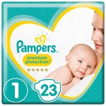 Pampers-Premium-Protection-New-Baby-Taille-1-nouveau-n-25-kg-Porter-Pack-Lot-de-4-x-23-pices-0