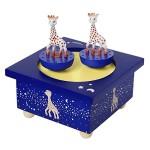 Trousselier-Sophie-la-Girafe-Boite--Musique-Dancing-Bleu-Nuit-0