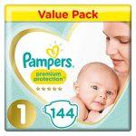 Pampers-Lot-de-144-couches-de-protection-suprieure-et-confortables-approuves-par-British-Skin-Foundation-Taille-1-0